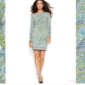 Michael Kors NWT paisley long sleeve dress